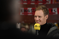 Football - 2019 / 2020 Emirates FA Cup - Second Round: Kingstonian vs. AFC Fylde<br /> <br /> Footballl Focus' Dan Walker in the Kingstonians Clubhouse, at King George's Field, Tolworth.<br /> <br /> COLORSPORT/ASHLEY WESTERN