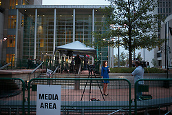 August 8, 2017 - Denver, Colorado, U.S - Media inside their pen at the Taylor Swift Groping Trial against radio DJ David Mueller at the Alfred A. Arraj United States Courthouse in Denver, Colorado, U.S., on Tuesday, August 8, 2017. (Credit Image: © Matthew Staver via ZUMA Wire)