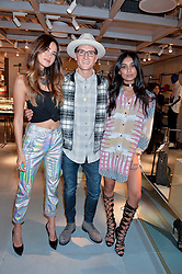 LONDON, ENGLAND 8 DECEMBER 2016: Ana Tanaka, Ollie Proudlock, Shree Patel at a party to celebrate the collaboration of Taylor Morris Eyewear and The Morgan Motor Company held at Harvey Nichols, Knightsbridge, London, England. 8 December 2016.