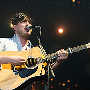 FAIRFAX, VA - February 13th,  2013 - Marcus Mumford of British folk outfit Mumford & Sons performs at the Patriot Center in Fairfax, VA.  The band's sophomore album, Babel, debuted at number one on both the UK and US album charts and recently won the 2013 Grammy for Album of the Year. (Photo by Kyle Gustafson/For The Washington Post)