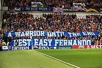 Football - 2019 / 2020 UEFA Europa League - Group G: Rangers vs. Feyenoord<br /> <br /> Rangers fans pay tribute to Fernando Ricksen, at Ibrox.<br /> <br /> COLORSPORT/BRUCE WHITE