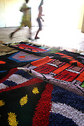 Nova Lima_MG, Brasil...Tapecaria do Projeto Fred, na foto detalhes de um tapete...The tapestry of Fred project, in this photo detail of a carpet...Foto: BRUNO MAGALHAES / NITRO..