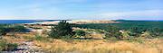 Panoramic view of the Nida Dunes
