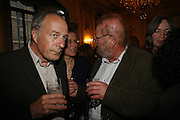 TOM PAULIN AND OLIVER TAPLIN, Seamus Heaney reading and party. Irish Embassy. Grosvenor Place. 21 April 2006. ONE TIME USE ONLY - DO NOT ARCHIVE  © Copyright Photograph by Dafydd Jones 66 Stockwell Park Rd. London SW9 0DA Tel 020 7733 0108 www.dafjones.com