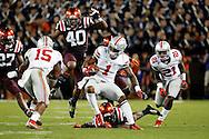 Sep 7, 2015; Blacksburg, VA, USA; Ohio State Buckeyes wide receiver Braxton Miller (1) runs for a touchdown during the third quarter against the Virginia Tech Hokies at Lane Stadium. Mandatory Credit: Peter Casey-USA TODAY Sports