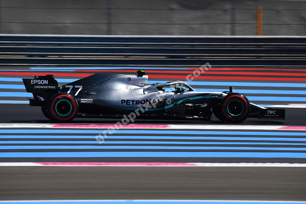 Valtteri Boyttas (Mercedes) during practice for the 2019 French Grand Prix at Paul Ricard. Photo: Grand Prix Photo