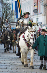 02.04.2018, Traunstein, GER, Georgi Ritt Traunstein 2018, im Bild Eiserner Ritter // during the traditionell Georgi Ritt on Easter Monday in. in Traunstein, Germany on 2018/04/02. EXPA Pictures © 2018, PhotoCredit: EXPA/ Erst Wukits