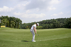 March 22, 2019 - Kuala Lumpur, Malaysia - Nacho Elvira of Spain hits his tee-shot on the 9th hole on Day Two of the Maybank Championship at at Saujana Golf and Country Club on March 22, 2019 in Kuala Lumpur, Malaysia. (Credit Image: © Chris Jung/NurPhoto via ZUMA Press)
