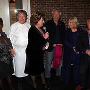 NLD/Naarden/20081006 - Boekpresentatie Catherine & Friends, Gerda Havertong, Paul Fagel, Catherine, Cees Dam, Willeke Alberti, Joop Braakhekke en Rik Felderhof