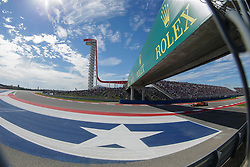 October 21, 2018 - Austin, TX, U.S. - AUSTIN, TX - OCTOBER 21: McLaren driver Stoffel Vandoorne (2) of Belgium races under Rolex bridge with COTA tower and signage during the F1 United States Grand Prix on October 21, 2018, at Circuit of the Americas in Austin, TX. (Photo by John Crouch/Icon Sportswire) (Credit Image: © John Crouch/Icon SMI via ZUMA Press)