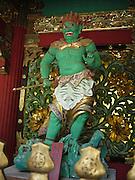 Japan, Tochigi, Nikko, Tosho-gu shrine The Green guardian wooden sculpture