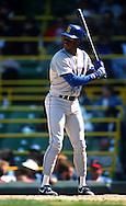 CHICAGO, IL-1989:  Ken Griffey Jr. of the Seattle Mariners bats against the Chicago White Sox during a game at Comiskey Park in Chicago, Illinois.  (Photo by Ron Vesely)
