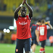 Arsenal's Bacary Sagna during the UEFA Champions League Play-Offs First leg soccer match Fenerbahce between Arsenal at Sukru Saracaoglu stadium in Istanbul Turkey on Wednesday 21 August 2013. Photo by Aykut AKICI/TURKPIX