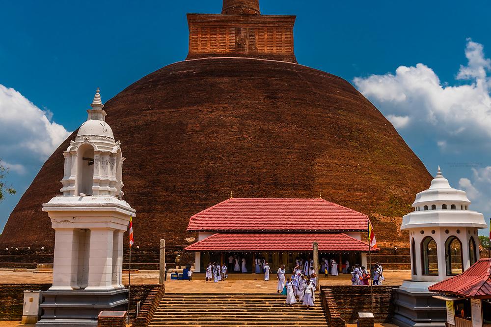 Abhayagiriya Dagoba, Anuradhapura, Sri Lanka. Anuradhapura is one of the ancient capitals of Sri Lanka, famous for its well-preserved ruins of an ancient Sri Lankan civilization.