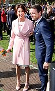 Koningsdag 2018 in Groningen / Kingsday 2018 in Groningen.<br /> <br /> Op de foto: Prins Maurits en Prinses  Marilene
