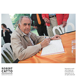 Sir Jack Brabham at the Launch of the Bruce McLaren Movie project at the A1 Grand Prix of New Zealand, Taupo, New Zealand.