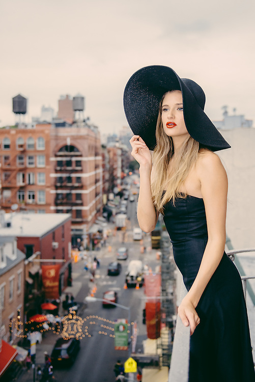 Photo shoot of a fashion model from apm models agency in New York City