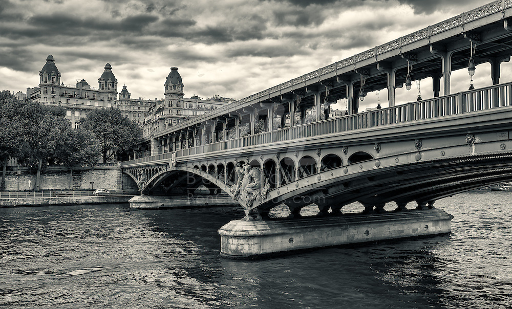 Pont de Bir-Hakeim Bridge near the Eiffel Tower in Paris.  This bridge was featured in the movie Inception.