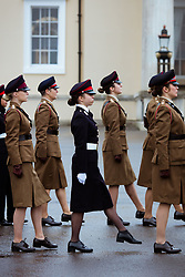 Jordan's Princess Salma (center, in black) seen during the Cadets' Parade at Sandhurst Military Academy, in Sandhurst, United Kingdom, on November 25, 2018. Photo by Balkis Press/ABACAPRESS.COM