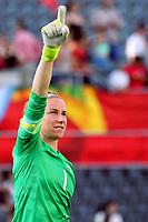BILDET INNGÅR IKKE I FASTAVTALER<br /> <br /> Fotball<br /> VM kvinner 2015<br /> 22.06.2015<br /> Norge v England 1:2<br /> Foto: imago/Digitalsport<br /> NORWAY ONLY<br /> <br /> Karen Bardsley (Torwart, England)