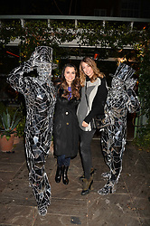 Samantha Barks and Amber Le Bon at The Ivy Chelsea Garden's Guy Fawkes Party, 197 King's Road, London, England. 05 November 2017.
