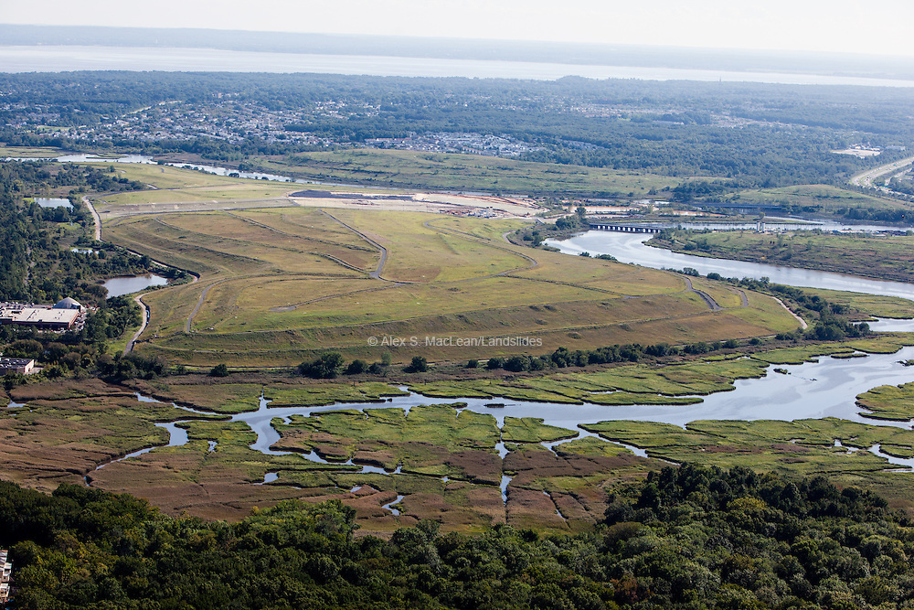 Fresh Kills landfill and surrounding wetland on Staten Island. Fresh Kills is undergoing renovation in to a public park with design by James Corner Field Operations