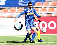 Fotball ,  OBOS-Ligaen<br /> 07.04.19<br /> Nammo Stadion<br /> Raufoss v Sandefjord  0-2<br /> Foto :  Dagfinn Limoseth , Digitalsport<br /> Enric Valles Prat , Sandefjord