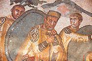 Emperor Maximinianus - Ancient Roman mosaics at the Villa Romana del Casale, Sicily, Italy Pictures, Photos, Images & fotos