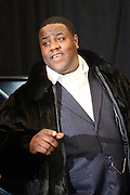 """7 January-NY, NY - Jamal Woolard at The Notorious premiere held at AMC Lincoln Square on January 7, 2009 in New York City. Photo Credit: Terrence Jennings/Sipa Press..Notorious charts the remarkable rise of Christopher """" The Notorious B.i.G """"-who in just a few short years, shot from the tough streets of Brooklyn to the heights of hip-hop legend."""