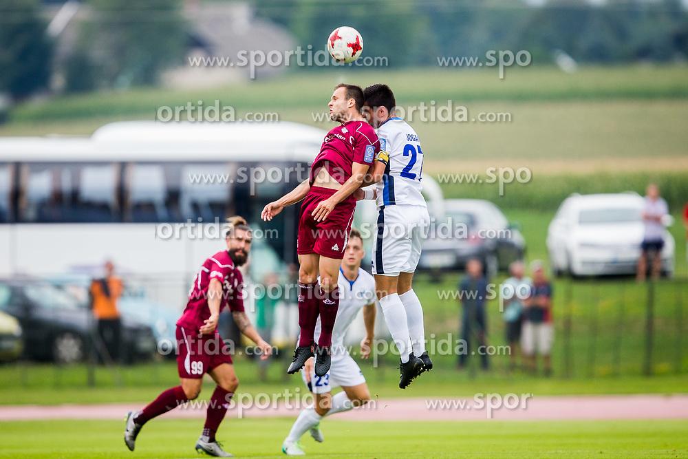 Matej Poplatnik of NK Triglav Kranj and Alen Jogan of ND Gorica during football match between NK Triglav Kranj and ND Gorica in 6th Round of Prva liga Telekom Slovenije 2017/18, on August 19, 2017 in Sports park Kranj, Kranj. Photo by Ziga Zupan / Sportida