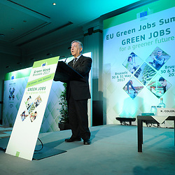 Brussels , Belgium , 30 May 2017 - Green Week 2017 - Green Jobs for a greener future - Green Jobs for Tomorrow, Today - Karmenu Vella, Commissioner for Environment, Maritime Affairs et Fisheries, European Commission<br /> © EU - Patrick Mascart