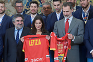 012820 Spanish Royals attends an Audience with the National Men's Handball Team