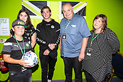 Forest Green Rovers Theo Archibald(18) man of the match with the match sponsors during the EFL Sky Bet League 2 match between Forest Green Rovers and Stevenage at the New Lawn, Forest Green, United Kingdom on 21 August 2018.