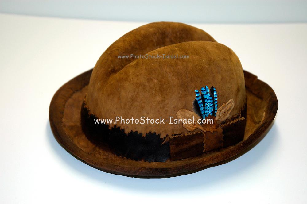 Hats Produced from dried mushroom fibre
