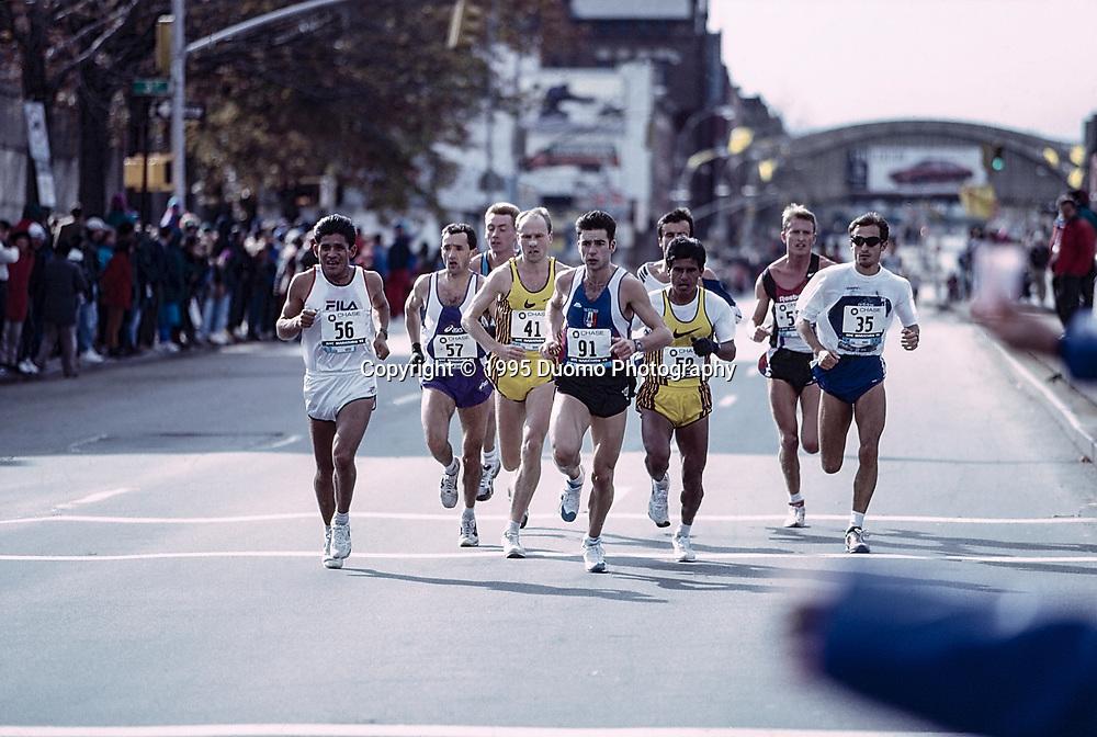 Runner during the 1995 NYC Marathon.