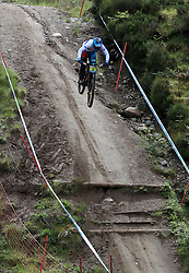 Sylvain Cougoureuxx of Lets Gets Intense Team during day two of the 2017 UCI Mountain Bike World Cup at Fort William. PRESS ASSOCIATION Photo. Picture date: Sunday June 4, 2017. Photo credit should read: Tim Goode/PA Wire. RESTRICTIONS: Editorial use only, no commercial use without prior permission
