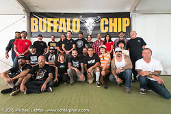 Custom bike builder breakfast at the Buffalo Chip Campgrounds during the 75th Annual Sturgis Black Hills Motorcycle Rally.  SD, USA.  August 2, 2015.  Photography ©2015 Michael Lichter.