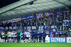 Players of Maribor celebrate after the football match between NK Maribor, SLO  and FC Schalke 04, GER in Group G of Group Stage of UEFA Champions League 2014/15, on December 9, 2014 in Stadium Ljudski vrt, Maribor, Slovenia. Photo by Vid Ponikvar / Sportida