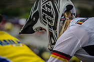 #53 (PRIES Nadja) GER at the 2016 UCI BMX World Championships in Medellin, Colombia.