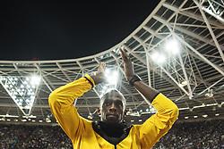August 13, 2017 - London, STORBRITANNIEN - 170813 Jamaicas Usain Bolt applÅ'derar publiken nÅr han gÅ¡r ett Årevarv under dag tio av friidrotts-VM den 13 augusti 2017 i London  (Credit Image: © Joel Marklund/Bildbyran via ZUMA Wire)
