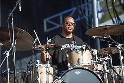 September 9, 2018 - Commons drummer Karriem Riggins performing at One MusicFest in Atlanta, GA on 09 September 2018 (Credit Image: © RMV via ZUMA Press)