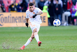 October 28, 2018 - Toronto, ON, U.S. - TORONTO, ON - OCTOBER 28: Eric Remedi (11) of Atlanta United FC shoots the ball during the first half of the MLS Decision Day match between Toronto FC and Atlanta United FC on October 28, 2018, at BMO Field in Toronto, ON, Canada. (Photograph by Julian Avram/Icon Sportswire) (Credit Image: © Julian Avram/Icon SMI via ZUMA Press)