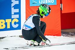 Katra Komar of Slovenia during 2nd Round at Day 1 of World Cup Ski Jumping Ladies Ljubno 2019, on February 8, 2019 in Ljubno ob Savinji, Slovenia. Photo by Matic Ritonja / Sportida