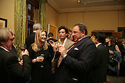 Frank Cohen, Georgina Cohen and Jean Pigozzi, Party for Jean Pigozzi hosted by Ivor Braka to thank him for the loan exhibition 'Popular Painting' from Kinshasa'  at Tate Modern. Cadogan sq. London. 29 May 2007.  -DO NOT ARCHIVE-© Copyright Photograph by Dafydd Jones. 248 Clapham Rd. London SW9 0PZ. Tel 0207 820 0771. www.dafjones.com.
