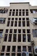 Damage to a building in the centre of Reyhanli, Turkey, after two car bombs rocked the border town with Syria earlier this afternoon.