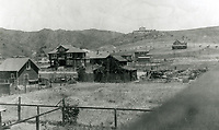 1907 Panorama looking north at Whitley Heights from Hollywood Blvd.