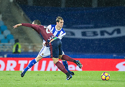 February 28, 2017 - San Sebastian, Spain - Match day of La Liga Santander 2016 - 2017 season between Real Sociedad and S.D Eibar, played Anoeta Stadium on Thuesday, March 28th, 2017. San Sebastian, Spain. 7 Juanmi. (Credit Image: © Ion Alcoba/VW Pics via ZUMA Wire/ZUMAPRESS.com)