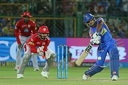 May 8, 2018 - Jaipur, Rajasthan, India - Rajasthan Royals batsman Sanju Samson plays a shot  during the IPL T20 match against Kings XI Punjab at Sawai Mansingh Stadium in Jaipur,Rajasthan,India on 8th May,2018.(Photo By Vishal Bhatnagar/NurPhoto) (Credit Image: © Vishal Bhatnagar/NurPhoto via ZUMA Press)