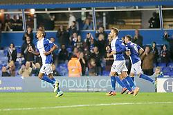 Birmingham City's Jesse Lingard celebrates after scoring Birmingham's fourth goal  - Photo mandatory by-line: Nigel Pitts-Drake/JMP - Tel: Mobile: 07966 386802 01/10/2013 - SPORT - FOOTBALL - St. Andrew's - Birmingham - Birmingham City V Millwall