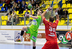 25.10.2016, BSFZ Suedstadt, Maria Enzersdorf, AUT, HLA, SG INSIGNIS Handball WESTWIEN vs ALPLA HC Hard, Grunddurchgang, 10. Runde, im Bild Sebastian Frimmel (WestWien), Domagoj Surac (Hard) // during Handball League Austria, 10 th round match between SG INSIGNIS Handball WESTWIEN and ALPLA HC Hard at the BSFZ Suedstadt, Maria Enzersdorf, Austria on 2016/10/25, EXPA Pictures © 2016, PhotoCredit: EXPA/ Sebastian Pucher